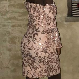 A Rose Gold Sparkle Party dress